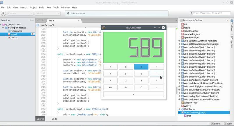 Калькулятор на QtE5